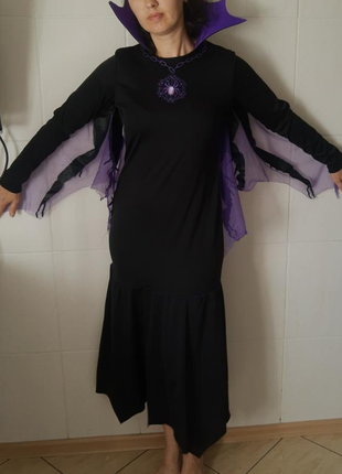 Карнавальный костюм женский платье паучихи/ паук/ ведьмы на хэллоуин