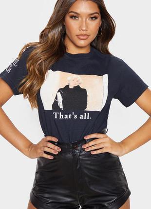Крутая футболка с принтом дьявол носит прада