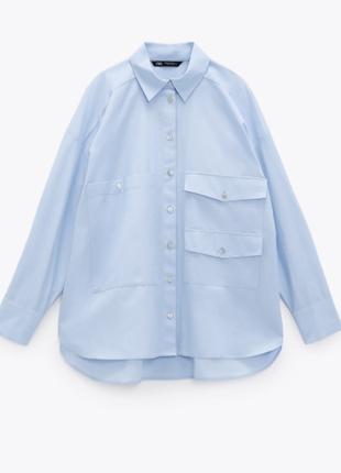 Оригинальные рубашки с карманами zara