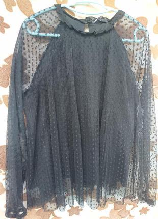 Блуза черная mohito