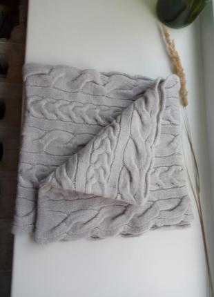 Снуд шарф 30% меринос, 30% альпака, 40 пан
