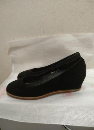 Натур. замшевые туфли