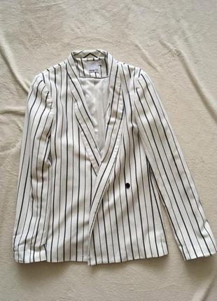 Пиджак жакет белый в полоску asos tall