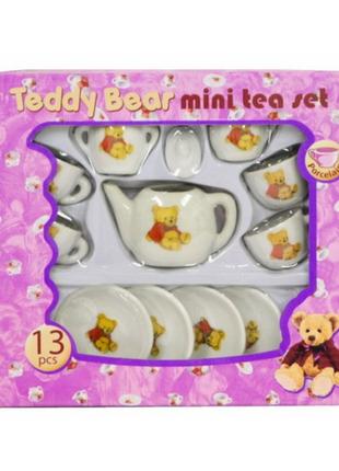 Детская фарфоровая посуда teddy bear mini tea