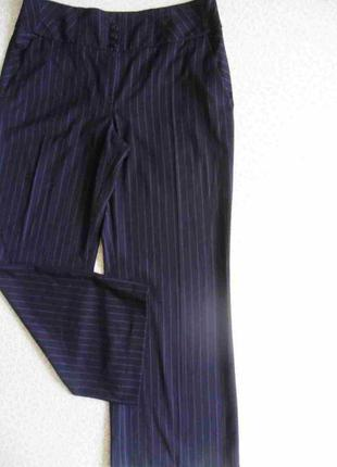Стильные брюки женские черные бордо полоска 50-52р стретч об 114-116см