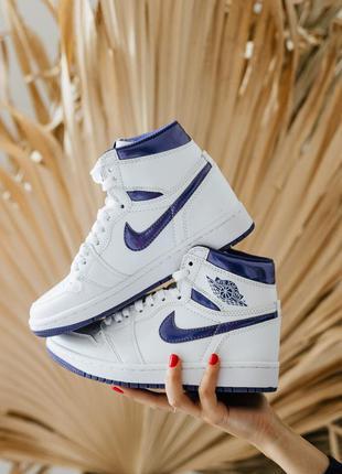 🖤🖤🖤кроссовки nike air jordan 1 retro high court purple