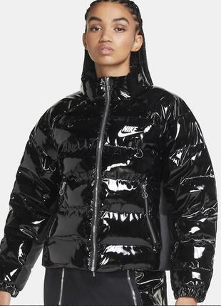 Куртка курточка лаковый пуховик nike