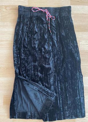 Стильная брендовая миди юбка с разрезами 🔥😍