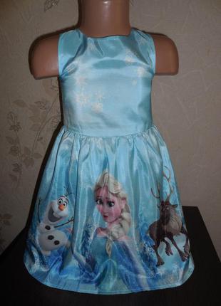 Нарядное платье h&m ( frozen) 4-5 лет
