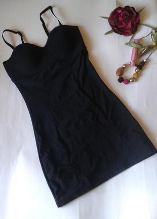 Черное утягивающее корректирующее платье maddison