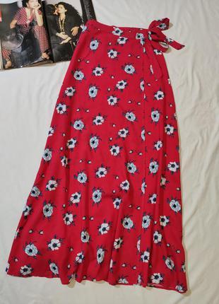Nly trend чудесная вискозная длинная юбка на запах eur 36