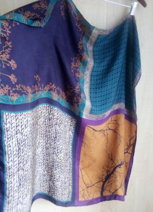 Шёлковый шарф esprit, шов роуль