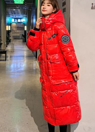 Куртка парка зимняя красная 50-52, 52-54