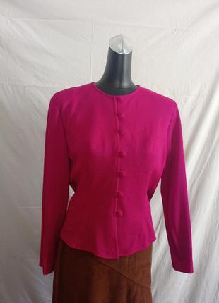 Винтажный ретро шерстяной жакет пиджак винтаж