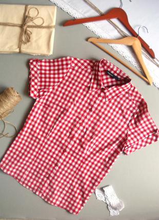 Натуральная рубашка с коротким рукавом красная xl 3xl xxl