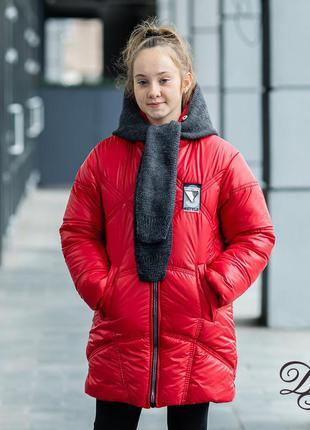 Куртка +капор : зимний набор для девочки
