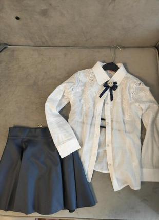 Блузка і спідничка до школи