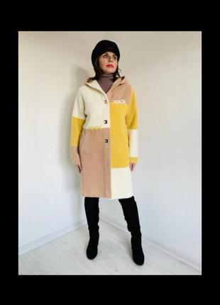 Кардиган  пальто альпака, качество люкс,  фабрика