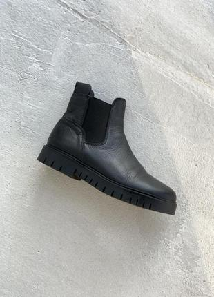 Кожаные ботинки челси tommy hilfiger leather chelsea boot