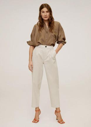 Брюки світлі жіночі, женские брюки бежевые mango.