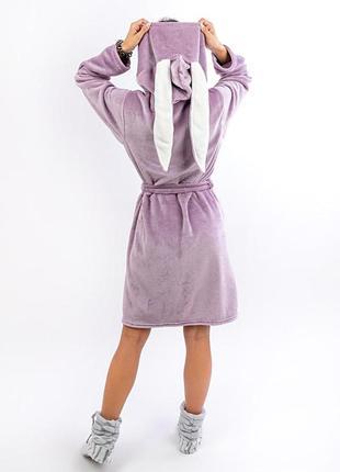 Зимний халат с ушками для девочки подростка