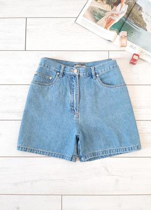 Мега стильные джинсовые шорты на высокой посадке..# 182