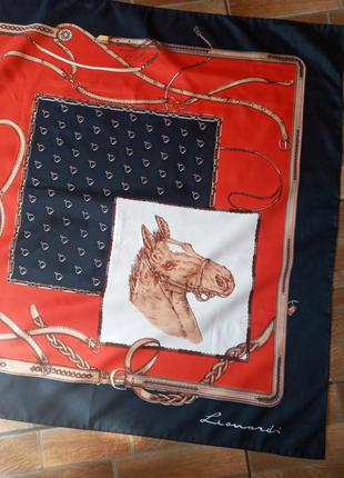 Итальнский винтажный платок роуль подписной leonardi