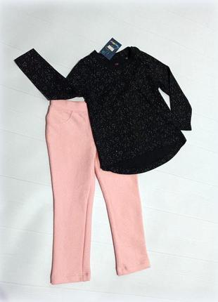 Набір штани - легінси,реглан в блискітки якісний і стильний 86-92 см lupilu ціна до 17.09