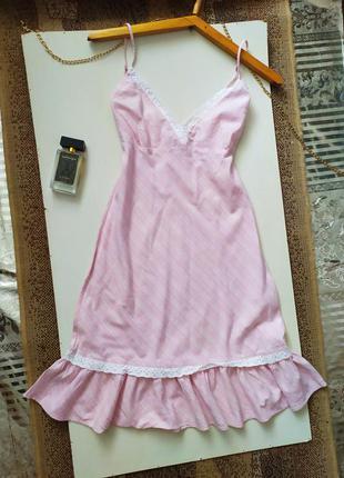 Хлопковый сарафан / платье в бельевом стиле / пеньюар / рюши / ажур / кружево