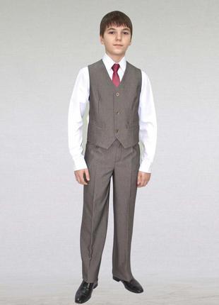 Обнова! брюки классика форма школьные серые новые 13 лет 158 см