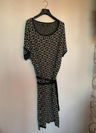 Вязаный сарафан платье с поясом 🖤🌟
