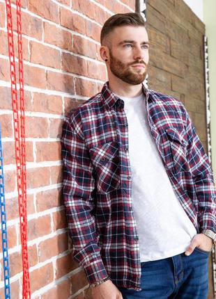 Фланелевая рубаха для стильного мужчины рубашка m l xl