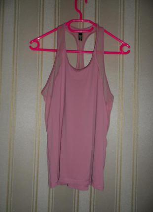 Топ без рукавов  розовый спортивный размер 38 // м  victoria sport