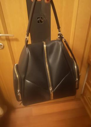Кожанная сумка рюкзак