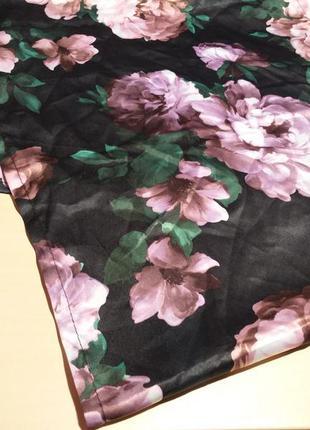 Платок шарф шаль цветочный принт home & deco