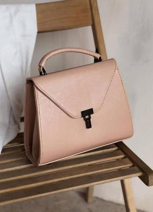 Женская сумка пудровая сумка трапеция пудровый клатч трапеция розовый клатч