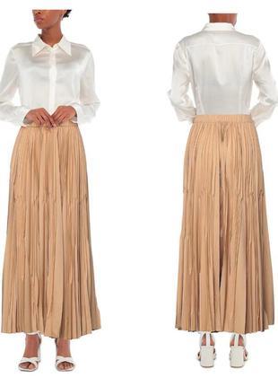 Плиссированная юбка макси antonelli премиум бренд