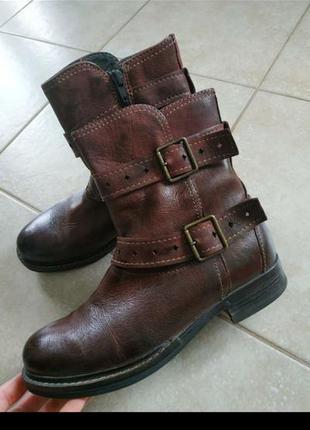 Челси кожаные ботинки марсала