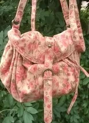 Англія. сумка вінтажна. квітковий принт