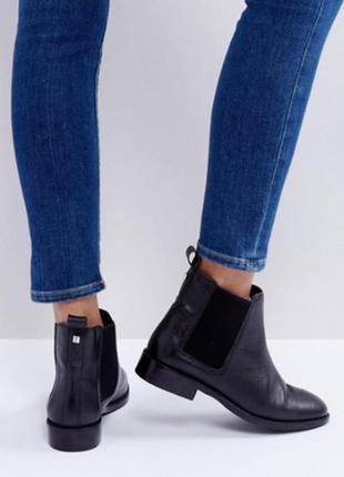 Шикарные кожаные ботинки челси faith от asos