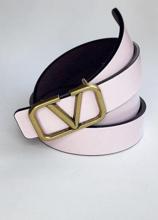 Ремень женский кожаный в стиле valentino