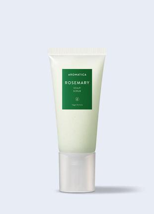 Скраб для шкіри голови з розмарином aromatica rosemary scalp scrub