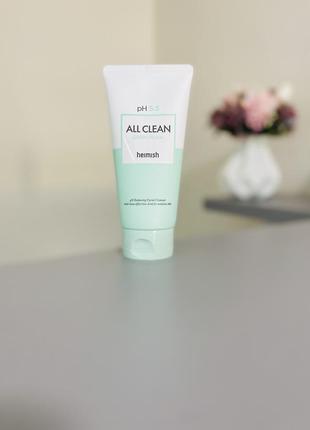 Пінка для вмивання з низьким рівнем ph 5.5 heimish all clean green foam