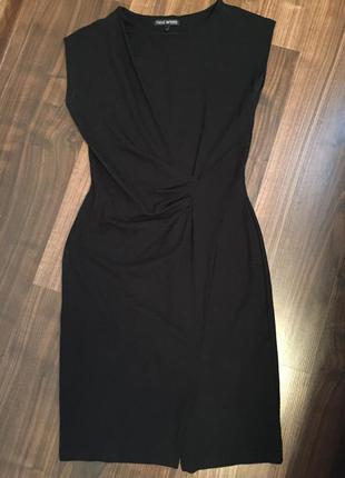 Платье миди чёрное