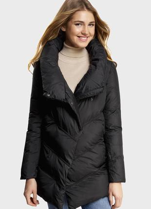 Зимняя куртка-пуховик чёрная куртка, размер с-хс