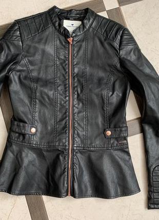 Куртка, шкіряна куртка, кожаная куртка, шкірянка, кожанка, еко шкіра, эко кожа, tom tailor