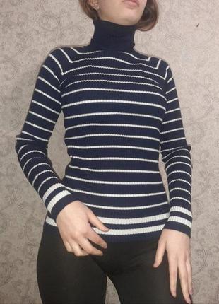 Гольф, свитер с горлом, свитер в полоску