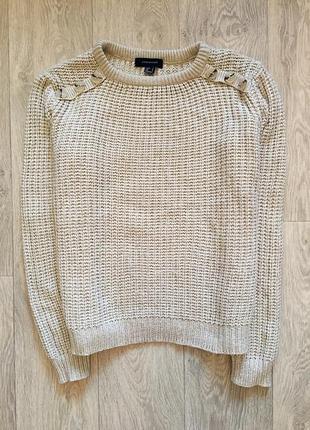 Бежевый свитер крупной вязки atmosphere