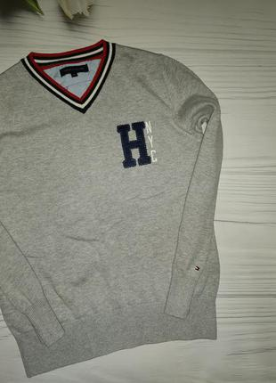 Джемпер свитер тонкая вязка tommy hilfiger