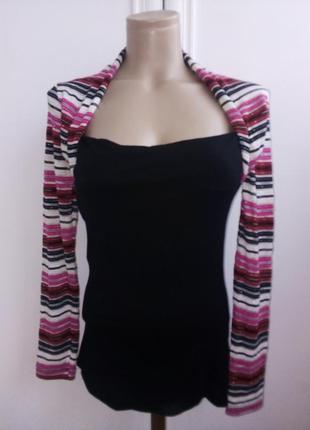 Эффектная кофточка-блузочка из трикотажа